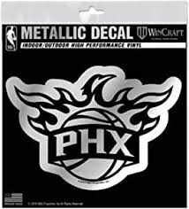 Amazon Com Phoenix Suns S74102 Metallic Window Decals Sports Outdoors
