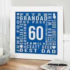 60th birthday gifts present ideas for