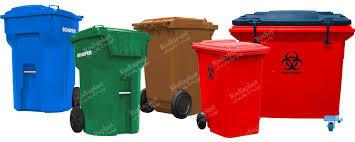 سطل زباله بزرگ چرخدار پلاستیکی | رودیاپلاست