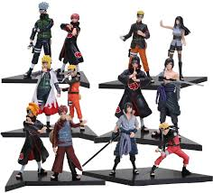 Amazon.com: OIVA Set of 2 Pieces PVC Naruto Shippuden Action Figure Naruto  Anime Figures Toy (Full Set of 12 Pieces): Toys & Games