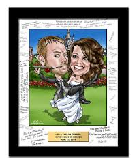 wedding caricatures from a photo