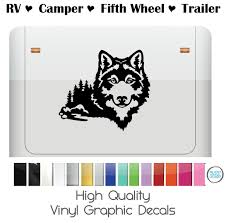 Wolf With Mountain Scenery By Shop Vinyl Design For Rv Camper Trailer And More