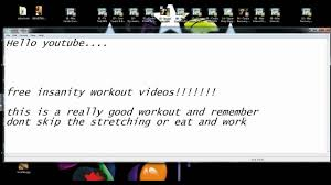 free insanity workout videos you