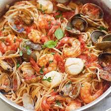 Shrimp Scallop Tomato Sauce Pasta Recipes
