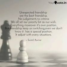 unexpected friendship ar quotes writings by suresh kumar