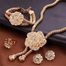 flowers pendants wedding jewelry sets