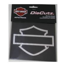 Harley Davidson Hd Chrome Silhouette Bar Shield Die Cutz Decal Diesel Power Plus Store