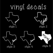 Pick Your Color Texas Decals Car Decal Yeti Decal Etsy