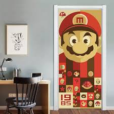 Mega Discount C462 3d Super Mario Door Decor Art Mural For Kids Room Playroom Cartoon Vinyl Door Stickers Removable Diy Decal Waterproof Wallpaper Cicig Co