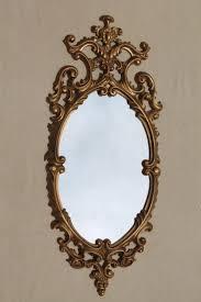 vintage gold rococo plastic wall mirror