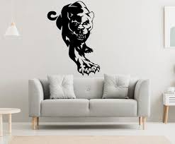 Panther Wall Decal Panther Wall Sticker Panther Wall Decor Etsy In 2020 Wall Decals Elephant Wall Decals Unique Decals