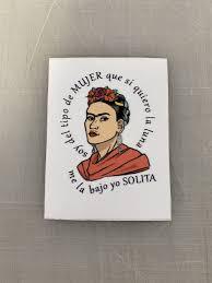 Frida Inspired Square Quote White Vinyl Decals Inspira