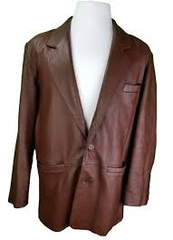 vintage lucky leather co coat jacket