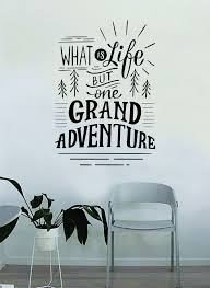 Grand Adventure Decal Quote Home Room Decor Decoration Art Vinyl Stick Boop Decals