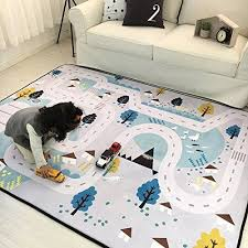 Iheartyou Small Village Thick Foam Play Mat Non Slip Non Toxic Baby Crawling Mat Creeping Mat Kids Activity Mat Baby Rug Baby Rugs Kids Rugs Childrens Play Mat