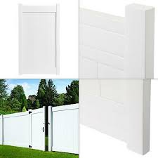 3 5 Ft W X 6 Ft H Fairfax White Vinyl Privacy Fence Gate Protected Durable 99114996712 Ebay