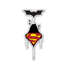 Batman Vs Superman Vinyl Sticker Vinyl Revolution