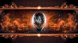 orange alienware wallpapers top free