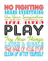 Playroom Rules Free Printable Subway Art Quotes For Kids Playroom Rules Playroom