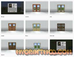 minecraft modern glass doors mod 1 16