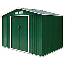 costway garden metal shed with