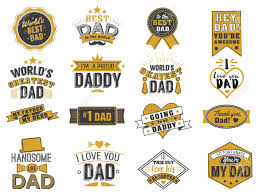 isolated happy fathers day quotes on the white background dad