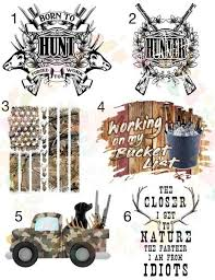 Hunting Man Waterslide Decals Laser Printed Laser Decals Tumbler Made By Momma Waterslides