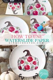 How To Use Water Slide Decal Paper Gina C Creates