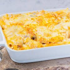 en cheese and penne pasta bake