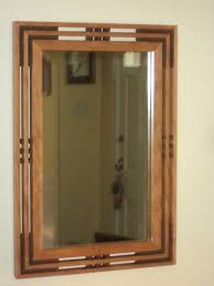 mission prairie style cherry mirror
