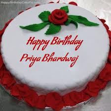 ❤️ Red Rose Birthday Cake For Priya Bhardwaj