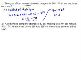 multi step equation word problems you