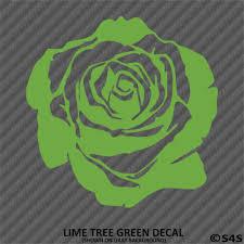 Choose Color Size Rose Blossom Flower Vinyl Car Decal Sticker Home Garden Decor Decals Stickers Vinyl Art