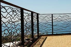 Custom Twisted Rebar Railing Lyster Residence Laguna Beach Ca Gerardidesign Com Railings Outdoor Fence Design Staircase Interior Design