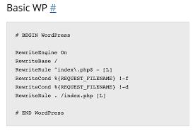 wordpress default htaccess rules