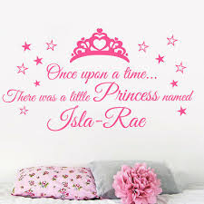 Personalised Once Upon A Time Princess Quote Wall Sticker Girls Bedrooms Ebay