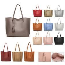 tote shoulder bag handbag pu leather