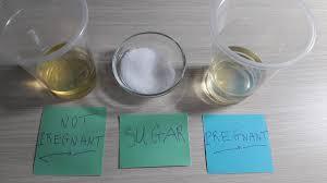 test pregnancy with salt sugar