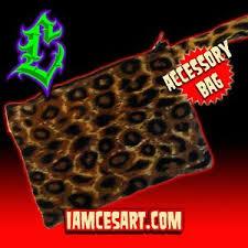 leopard accessory pouch clutch makeup