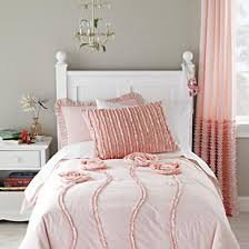 pink bedding of roses from land of nod