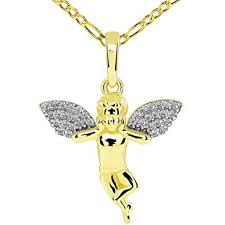 14k yellow gold guardian angel