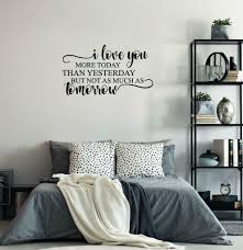 Oracal Love You More Today Than Yesterday Wall Decal Couple Anniversary Wall Decor