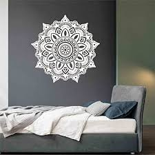 Buy Kakuder Wall Sticker Flower Mandala Flower Indian Bedroom Wall Decal Art Stickers Mural Home Vinyl Family 30 Gift 1pc Drop Online At Low Prices In India Amazon In