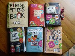 art cute want creative books wreck this journal keri smith arte journal  destroy activity arty mirufistic •