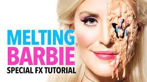 barbie halloween makeup tutorial