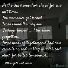 as the classroom door clo quotes writings by sushma marebal