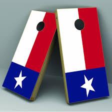 Texas Flag Cornhole Board Vinyl Decal Wrap