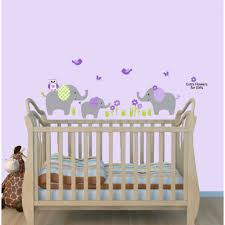 Cheerful Jungle Theme Wall Decals With Wall Sticker Elephant For Children