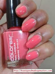 colorbar nail lacquer autumn rose