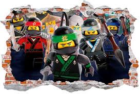 Lego Ninjago 3d Broken Smashed Wall Decal Wall Sticker Wall Art Dalvars On Artfire